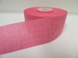 2 metres or 20 metre Barbie Pink Roll 38mm Vintage Hessian Burlap Ribbon Double sided